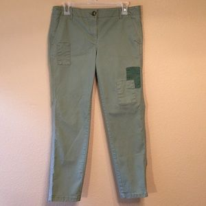 Loft pants with patches